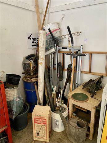 Garage Corner Clean Out Lot - See Photos & Description for Contents