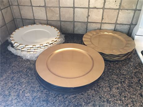 Three Sets of Charger Plates