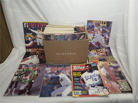 Box Of Beckett, Topps, etc Price guides/magazines