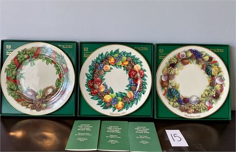 1980's Lenox Colonial Christmas Limited Edition Wreath Plates