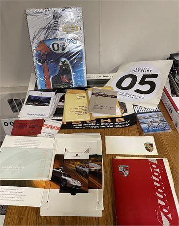 Car Collector's Lot - Porsche Specs & Museum Historic Calendar, Driver's Manuals