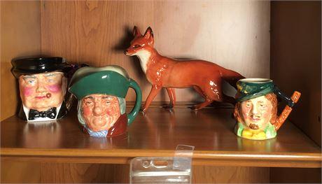 Thorley Bone China Churchill Mug, Fox Figurine and More