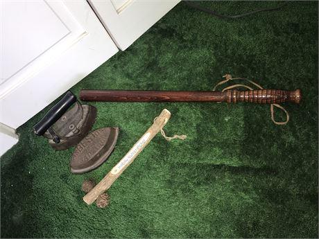 Antique Iron, Hillbilly Nutcracker and Billy Club
