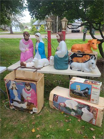 Nativity Blow Mold Lot