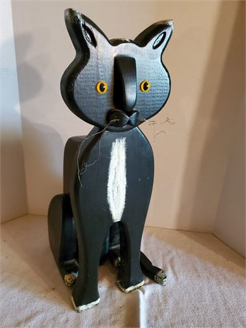 Funny Wood Cat