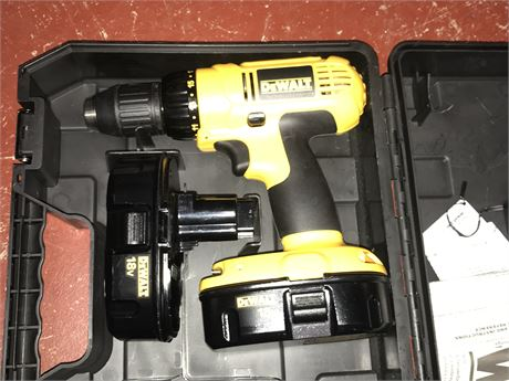 Dewalt Cordless Drill with 2 batteries but no charger
