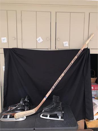 Vintage Bauer Supreme 3000i Tverdovsky Wooden Hockey Stick & More