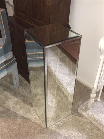 Beveled Mirror Pedestal