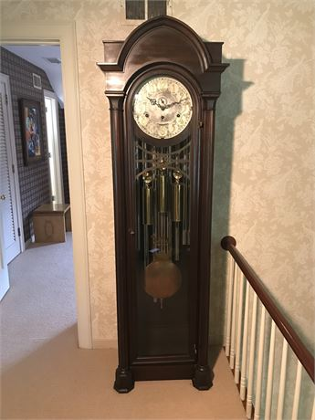 Antique Jacques Nine Tube Grandfather Clock with Borgfeldt Chimes