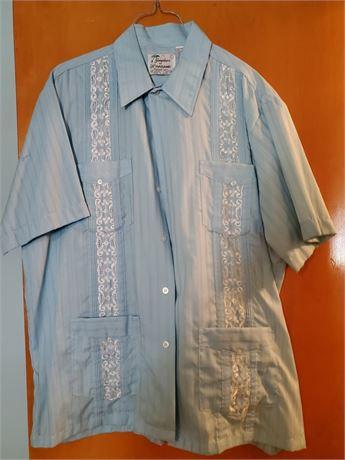 Vintage Haband Guayabera Shirt L