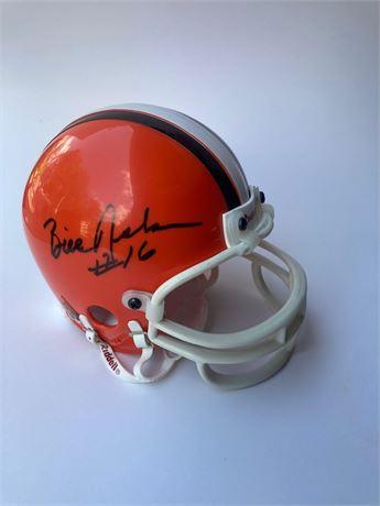 Bill Nelsen Autographed Cleveland Browns Mini-Helmet