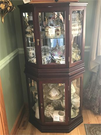 2 Stacking Cherrywood Display Cabinets (contents NOT included)