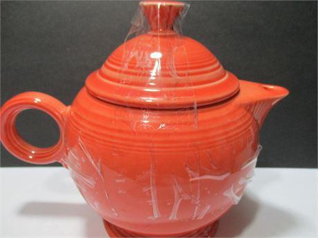 Genuine Orange Coral Rare Bowl FIESTA Tea Pot