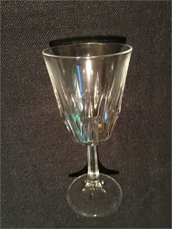 Set of 12 Libbey Crystal Water Goblets