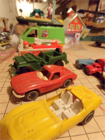 Cars and Trucks- incl Fisher Price Fire Truck