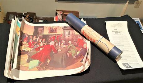 H. Charles McBarron Watercolor American History Scenes and More