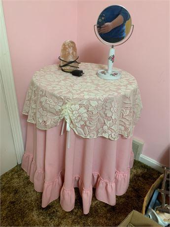 PINK TABLE & STUFF