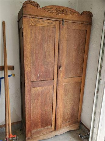 Antique Oak Armoire Project