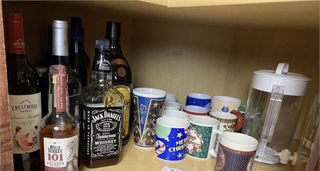 Bottom Cupboard Clean Out w/ Pitchers, Mugs, and More