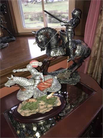 Pair of Knight Statues