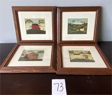 Four Framed Warren Kimble Prints
