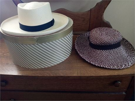 Men's Stetson Straw Hat with Box