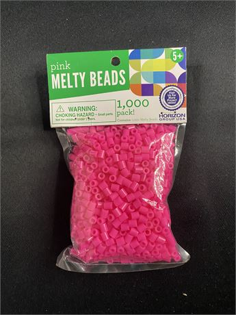 18 packs of melty beads. Pink. 1000 beads/pack.