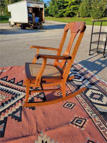 American Quarter Sawn Oak Caned Seat Rocker