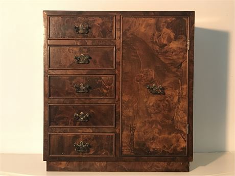 Small 5 Drawer Tabletop Cabinet with Door