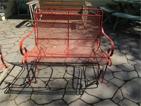 Metal Glider Bench