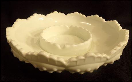Fenton Milk glass ashtray