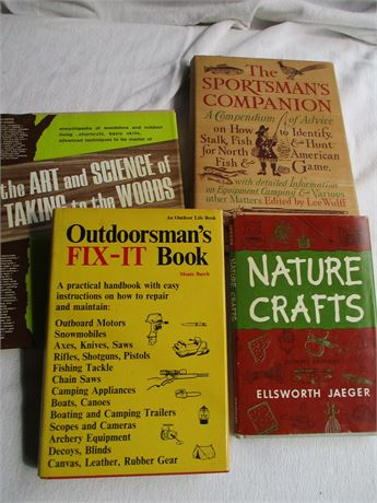 Outdoor Themed Natural Companion Boks 4 Pieces Lot