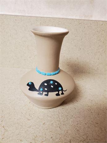 Vintage Hopi Indian Vase w/ TURTLE