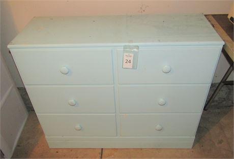 Painted Pine 6-Drawer Dresser