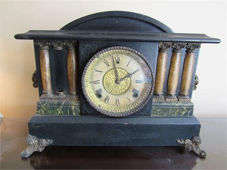 Vintage Ingraham Mantle Clock w/ key
