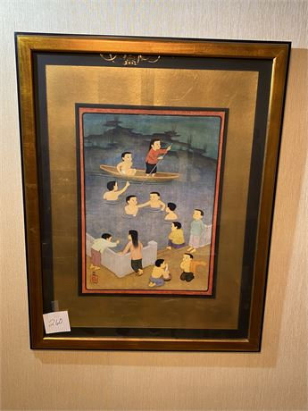 Beautifully Framed Original and Signed Asian Art