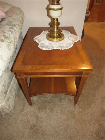 Wood End Table