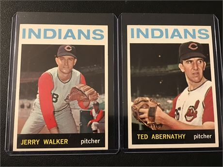 1964 Topps Cleveland Indians-Abernathy and Walker