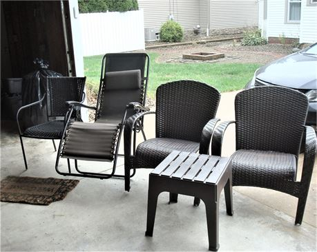 Patio Chair Lot with Table
