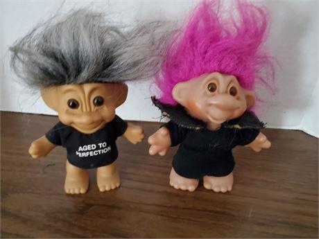 2 Vintage Troll Dolls