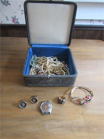 Vintage Costume Jewelry Lot w/ box