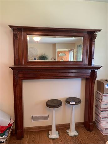 Mirrored Shelf/ Mantel