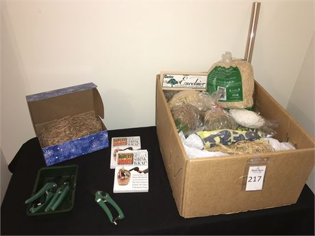 Gift Basket Natural Stuffing, Shrink Wrap, and More