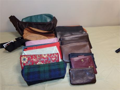 Fanny Packs, Wallets, Clutches, and Eye Glass Holders