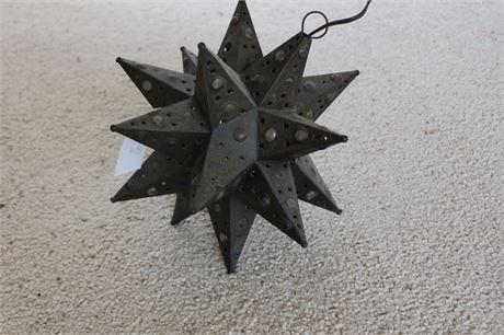 Fantastic Hanging Light Sculpture Gemmed Star