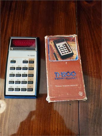 Vintage Texas Instruments Ti-1200 Calculator w/ Box