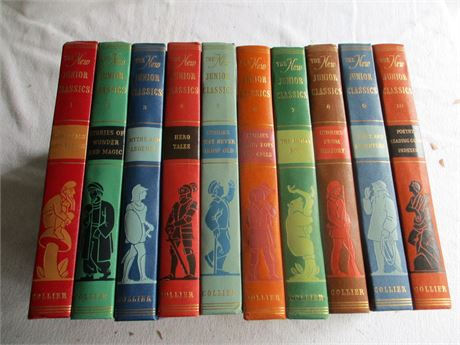 Vol 1-10 Vintage 1960's Colliers New Junior Classic Fairy Tales