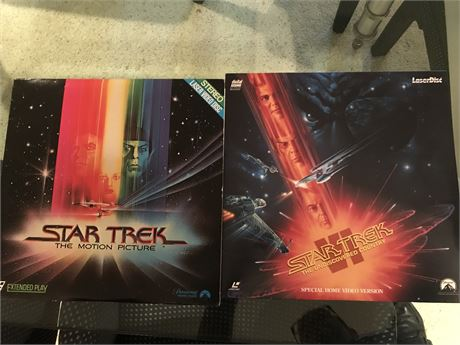 Laser Disc Lot 1 - Star Trek I and Star Trek VI