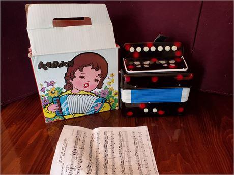 Vintage HERO Toy  Accordion w/ Box