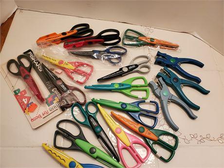 Art Scissor Lot & Punches too